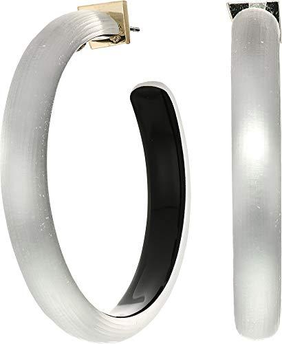 Alexis Bittar Women's Large Hoop Earrings Grey One Size