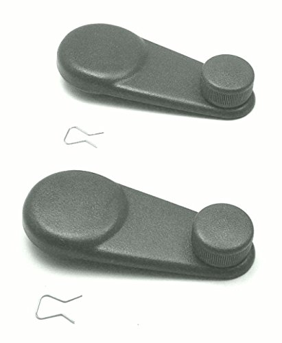DELPA CL3241 - 2 pcs Winder WINDOW CRANK HANDLE Grey Set Fits: 1989 thru 2000 Chevrolet / Chevy GM / Geo Metro (Geo Metro Window)