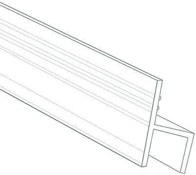 10 Feet Shower Door Glass Seal 5/16 Inch - h Shape - High Transparent Silicon Durable Frameless Shower Door Bottom Sweep Shower Door Bottom Seal for Door or Windows by DGQ