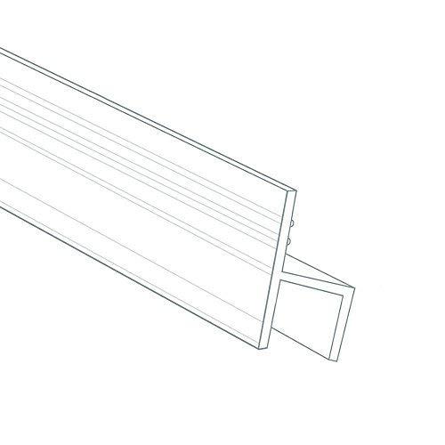 DGQ 10 Feet Shower Door Glass Seal - 1/2 Inch - h Shape - High Transparent Silicon Durable Frameless Shower Door Bottom Sweep Shower Door Bottom Seal for Door or Windows