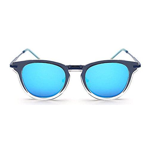 pour Soleil Vert Conduite Coloré Plage Lunettes extérieure Unisexes Vacances UV Femmes Hommes Été Couleur de Peggy Protection Bleu Rétro Les Gu Hw01qXTx6F