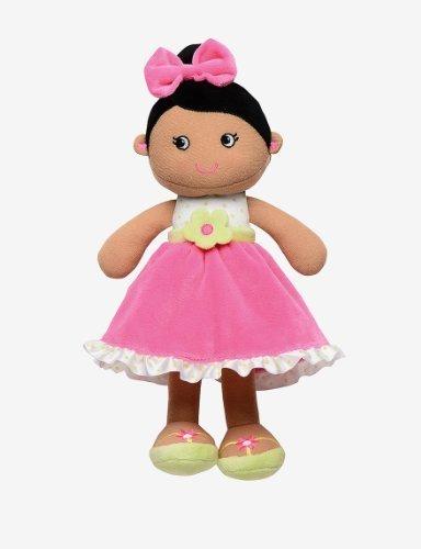 Baby Starters Plush Snuggle Buddy Doll - Dark Skin, Pink Dre