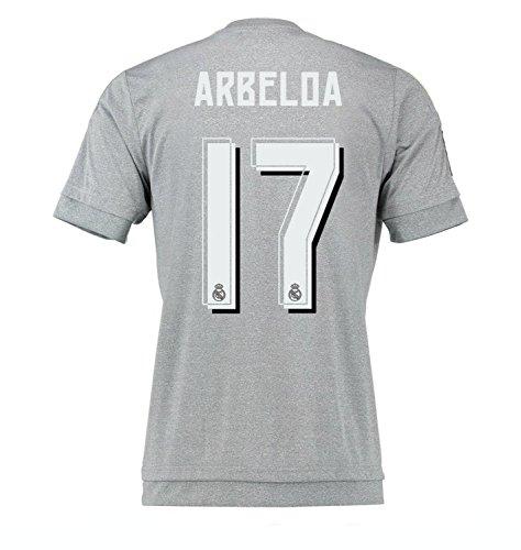 自動的に手段うがい薬Arbeloa #17 Real Madrid Away Jersey 2015-16 (Authentic name & number)/サッカーユニフォーム レアル?マドリード アウェイ用 アルベロア