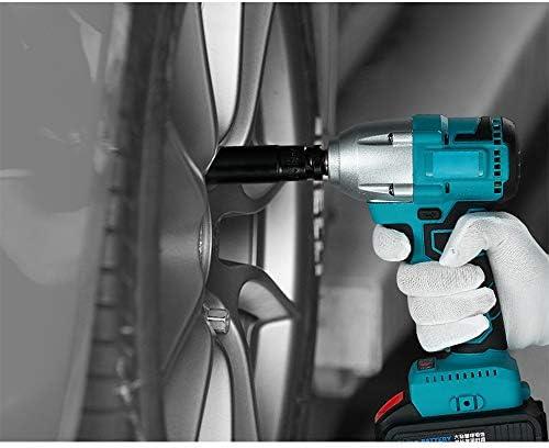 Cool Clé à Chocs électrique sans Fil 2 x Batterie Kit Complet avec Mandrin, Convertisseur, Manchon, Boîte de Rangement, etc. 330N.M  PzcBC