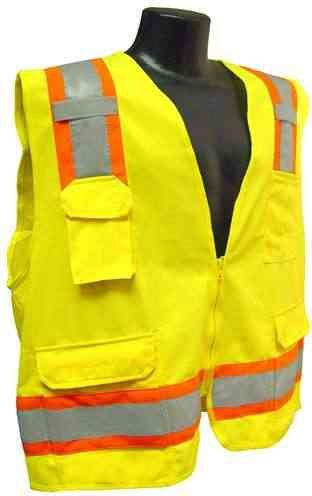 Radians SV6 Adult's Two Tone Surveyor CL-2 Safety Vest Green Small