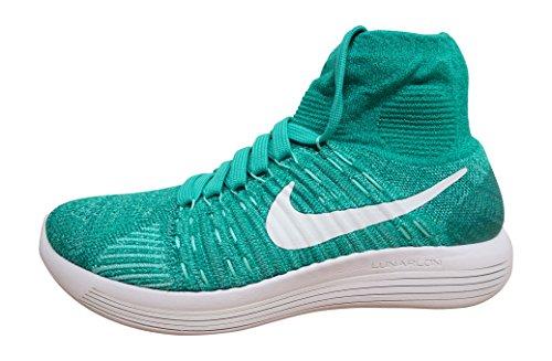 Nike Womens Lunarepic Flyknit Scarpa Da Corsa High-top Chiara Giada / Bianco-iper Turq