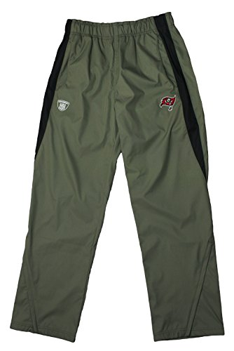 NFL Reebok Mens Tampa Bay Buccaneers On Field All Weather Athletic Pants, Pewter ()