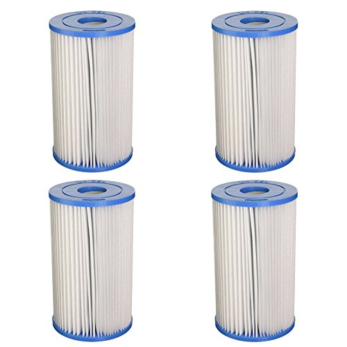 Unicel Swimming Pool/Spa PIN20 Intex Replacement Filter Cartridge C5315 (4 Pack)