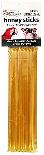 - Honey Sticks - Original Flavor - 24 Sticks Total - All-Natural Treat for Sugar Gliders, Marmosets, Parrots, Canaries, Finches, Parakeets, Cockatiels, & Other Birds