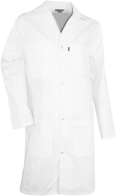 Bata blanca de laboratorio 100% algodón paleta LMA: Amazon.es ...
