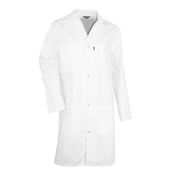 Bata blanca de laboratorio 100% algodón paleta LMA