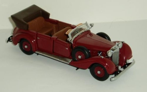 Franklin Mint Die Cast 1939 Mercedes Benz 770K Grosser Burgundy 1:43 scale rel-1991 (Cars Collectible Mint Franklin)