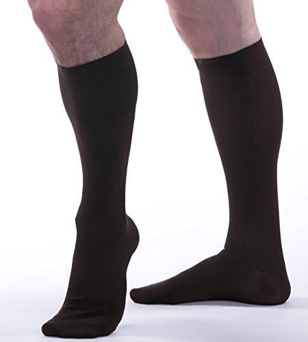 Brown Allegro Men/'s 15-20 mmHg Essential 103 Ribbed Support Socks Large