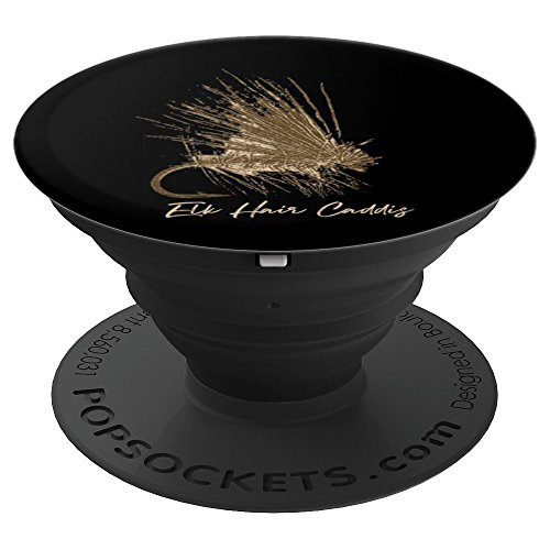 Fly Fishing Vintage Lure Elk Hair Caddis - PopSockets Grip and Stand for Phones and Tablets ()