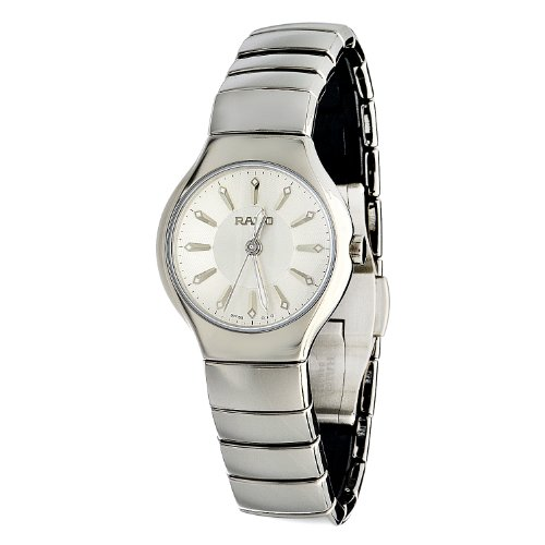 Rado Women's R27656102 True Elegance Polished Platinum Tone Ceramic Watch