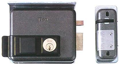 Cerradura eléctrica para instalar, art. 525, pestillo autobloqueo, cilindro interno y cilindro