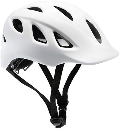 Black Exclusky Adult Bike Helmet,Cycle Helmet with Detachable Visor with Inner Padding/&Flow Vents for Men Women Adjustable 57-61cm,Safety Protection