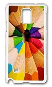 Adorable Color Pencils Hard Case Protective Shell Cell Phone For Case Iphone 4/4S Cover - PC White