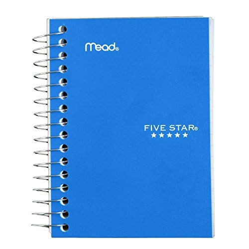 """Five Star Spiral Notebook, Fat Lil' Pocket Notebook, College Ruled Paper, 200 Sheets, 5-1/2"""" x 3-1/2"""", Color Selected For You, 1 Count (45388)"""