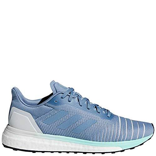 (adidas Women's Solar Drive Running Shoes Raw Grey/Raw Grey/Clear Mint Red 7 B(M) US)