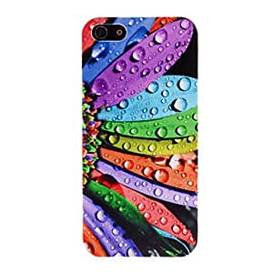 WQQ Water Drops on the Colorful Flower Petals Pattern PC Hard Case for iPhone 5/5S
