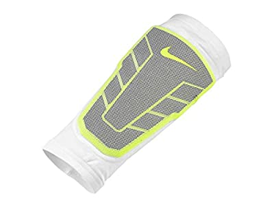 Nike Mens Pro Combat Hyperstrong Compression Elite Shin Sleeve White Medium