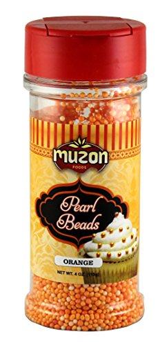 Candy cane decorations  Orange Edible Sugar Pearls  Pearl Beads Orange  Orange Edible Sugar Pearls Dragees Decoration  Pumpkin Halloween 4 ounce ()