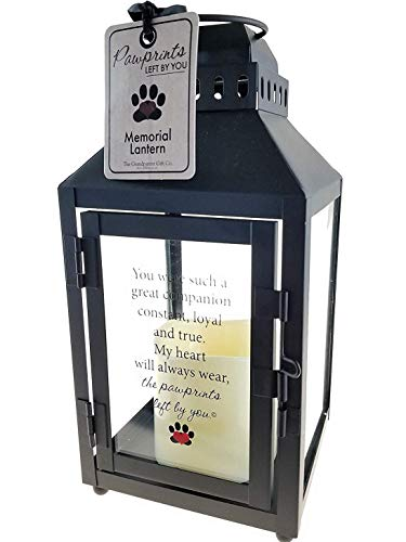 - The Grandparent Gift Co. Light and Love Pawprints Left by You Memorial Lantern - Bereavement or Sympathy Gift - 3