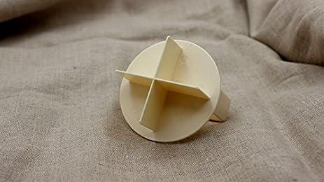 "Bread Roll Stamp 3/"" Dough Press Kaiser Roll Shaper German Bread Brotchen"
