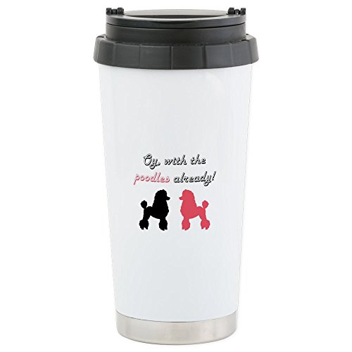CafePress - Stainless Steel Travel Mug - Stainless Steel Travel Mug, Insulated 16 oz. Coffee - Travel Mug Poodle