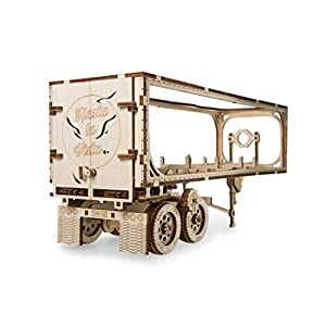 Ugears 70057 Truck Trailer Rimorchio Per Pesanti Camion Di Compensato Fai Da Te Accessori Per Modellismo In Legno