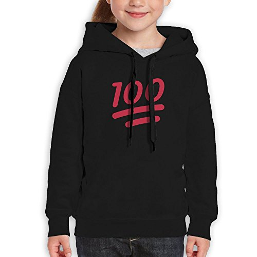 MiKa Full Marks Youth Hoodies Unisex Pullover Fashion Cotton Hoodie Hooded Sweatshirt For Boys/Girls XL Black