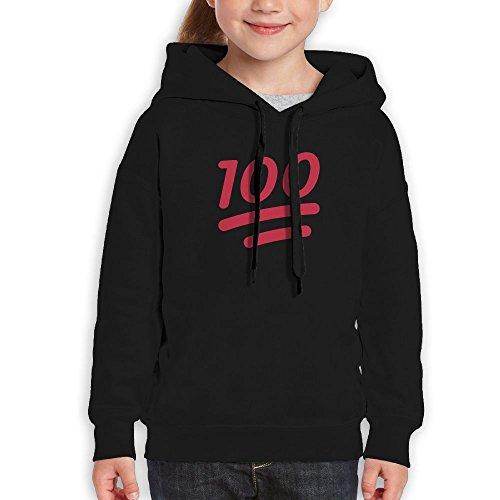 MiKa Full Marks Youth Hoodies Unisex Pullover Fashion Cotton Hoodie Hooded Sweatshirt For Boys/Girls XL Black