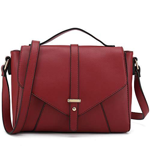(Ladies Designer Purses Cross Body Handbags Trendy Bags for Women Shoulder Bags (Red))