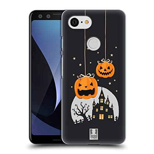 Head Case Designs Pumpkins and A Castle Halloween Characters Hard Back Case Compatible for Google Pixel 3 -