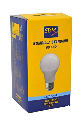 Bombilla LED GLS Edison de 3 W, E27, 200 lúmenes, 6400 K, luz ...