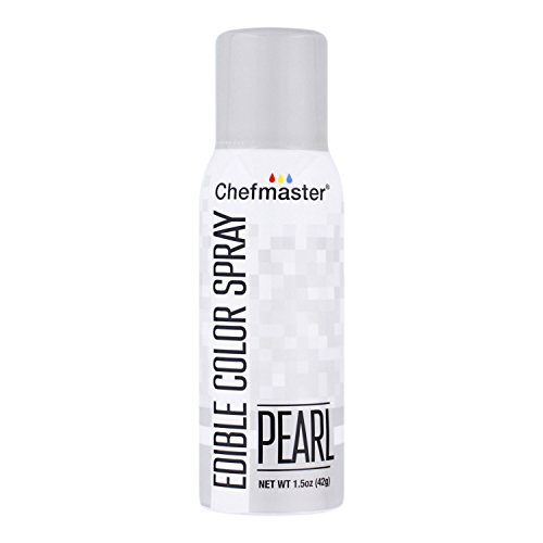 Edible Pearls Cakes - Chefmaster Edible Spray Cake Decorating Color 1.5oz Can - Metallic Pearl