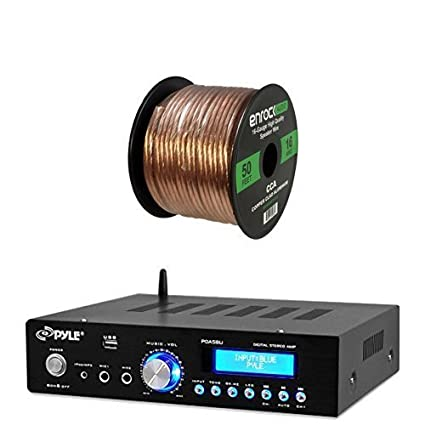 Pyle PDA5BU Amplifier Receiver Stereo, Bluetooth, AM/FM Radio, USB Flash Reader
