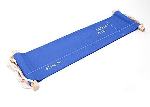 Büro Fußablage Schreibtisch Hängematte Fuß Hängematte Verstellbar Blau Hängesessel