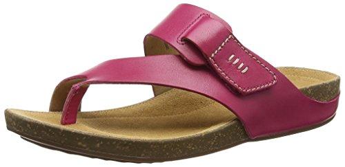 Clarks Perri Coast Sandalias Abiertas, Mujer Rosa (Fuchsia Leather)