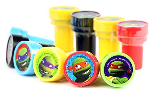 TMNT Teenage Mutant Ninja Turtles Self-Inking Stamps / Stampers Party Favors (10 Counts) (Ninja Turtle Stamps compare prices)