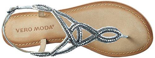 Vero Moda Vmsis Leather Sandal, de Tiras para Mujer Beige (Buttercream)