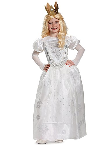 White Queen Deluxe Alice Through The Looking Glass Movie Disney Costume, Small/4-6X]()