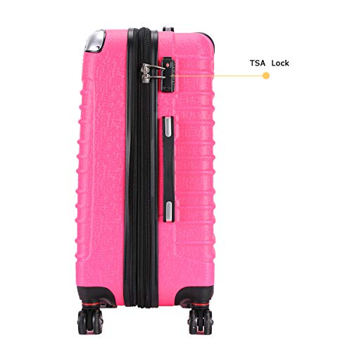 Expandable Carry On Luggage, Lightweight Spinner Carry Ons, Travel Collection TSA Carry On Luggage 20 inches (Pink) by Travel Joy (Image #3)