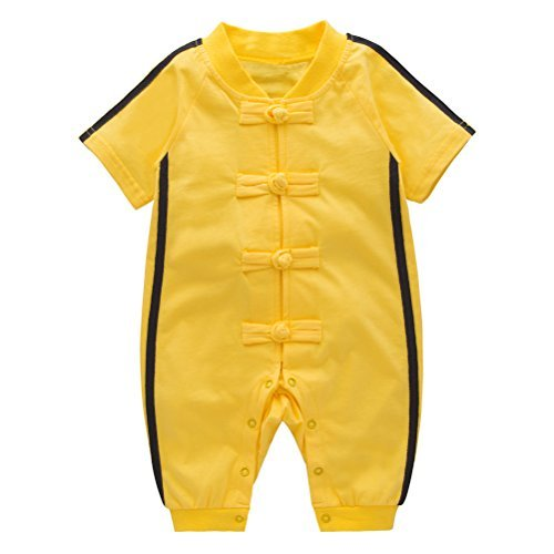 (XM Nyan May's Baby Toddler Boys Chinese Kung Fu Style Romper Onesie Outfit (6-12 Months),)