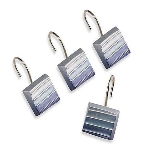 6.9'' L x 2.8'' W x 3.6'' H Croscill Fairfax Resin Shower Curtain Hooks (Set of 12)