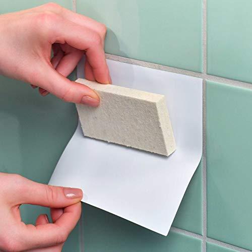4 unidades /Adhesivos para azulejos FoLIESEN/ 20/cm x 25/cm amarillo brillante