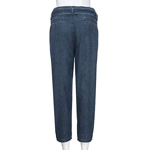 iLUGU Women Hight Waisted Loose short dress Bow Bandage Hole Denim Jeans Stretch Pants Jean by iLUGU (Image #1)