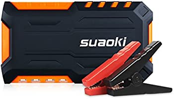 Suaoki 600A Peak Car Jump Starter w/Air Compressor & Flashlight