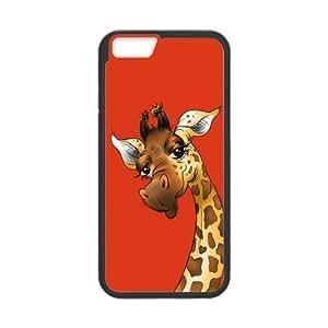 the Case Shop- Customizable Giraffe iPhone 6 4.7 Inch TPU Rubber Hard Back Case Cover Skin , i6xq-420